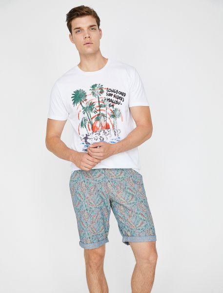 KOTON T-Shirt mit lässigem Aufdruck