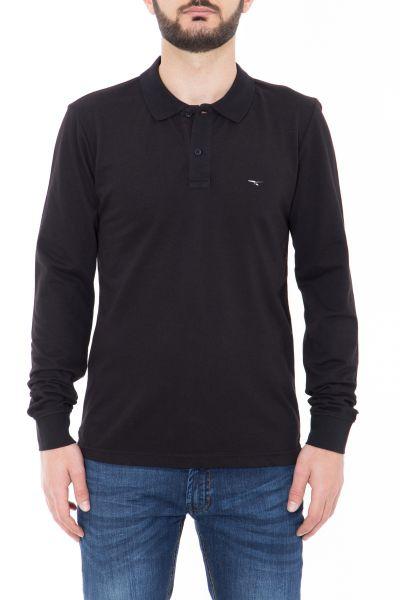 CANIZALES Langarm-Poloshirt mit Logostickerei