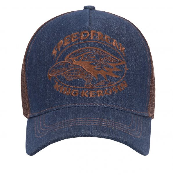 KING KEROSIN Trucker Mesh Cap im Jeanslook Speedfreak