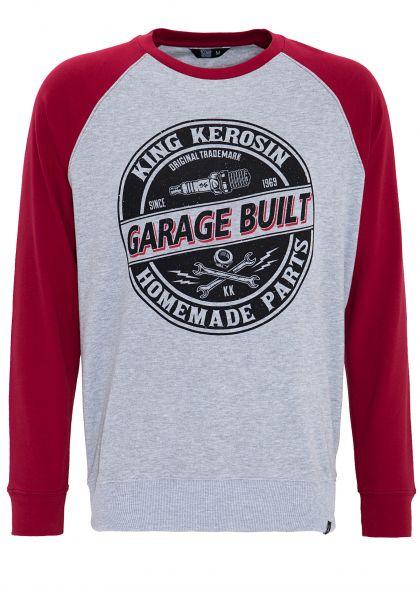 King Kerosin Sweater mit Raglanärmeln und auffälligem Print Garage Built