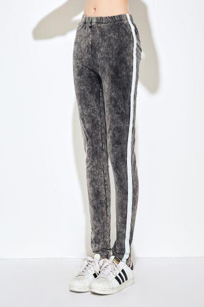 AIKI KEYLOOK Leggings Whiteline mit aufgestepptem Band Whiteline