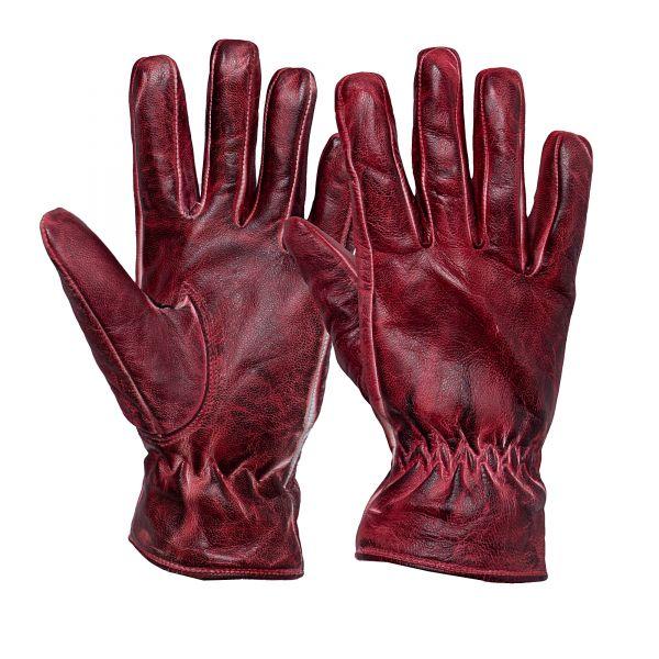 QUEEN KEROSIN Damen Biker-Handschuhe im Vintage-Look