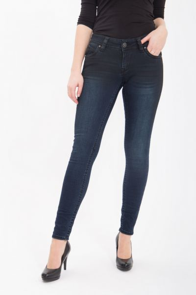 BLUE MONKEY Skinny Jeans mit Stone Waschung in cleaner Optik Laura 3828