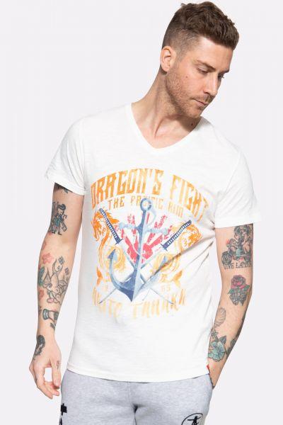 T-Shirt mit Frontprint »Dragon Anchor«