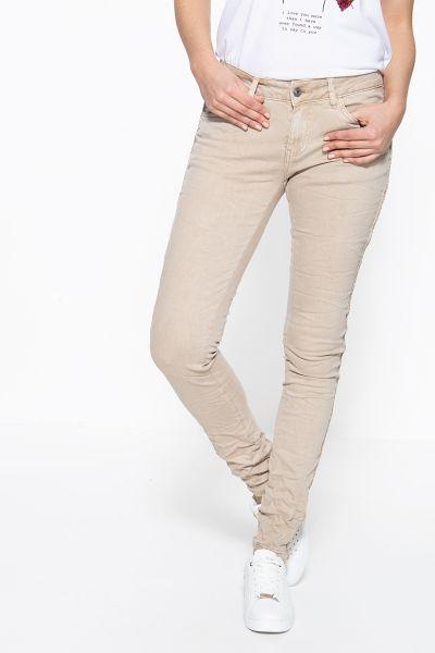BLUE MONKEY Skinny Jeans mit seitlich aufgestepptem Band Honey 10055