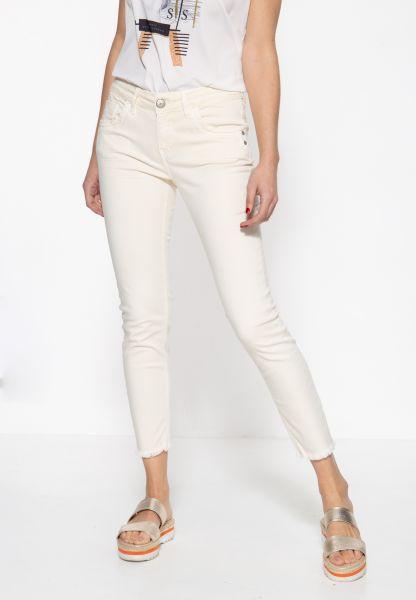 ATT JEANS Damen 5-Pocket Jeans mit offenen Saumkanten und leichter Waschung Leoni