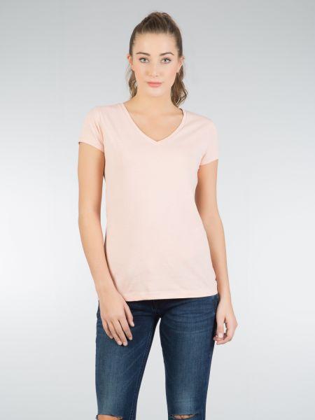 COLINS Basic Shirt Basic Form mit V-Ausschnitt