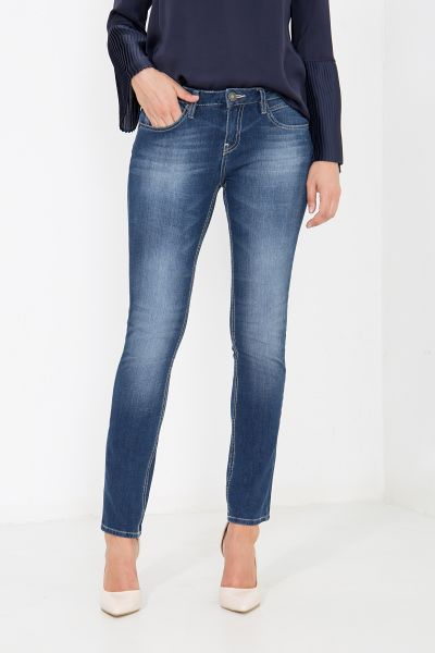 ATT JEANS 5-pocket Jeans in Used Waschung, Slim Fit Belinda