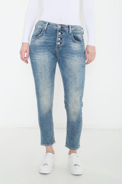COLINS Boyfriend Sweat Jeans Julia mit Knopfverschluss Julia
