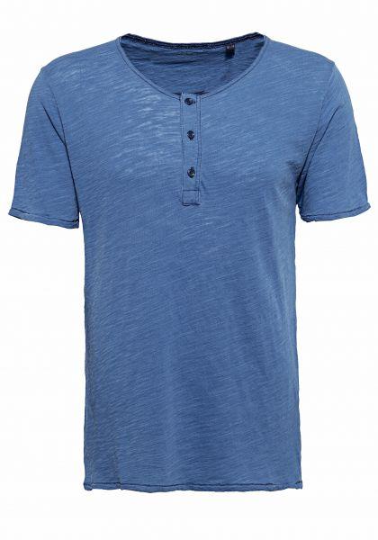 MEXX Basic T-Shirt mit Knopfleiste