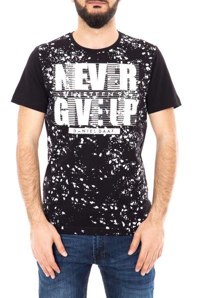 DANIEL DAAF Watercolor T-Shirt mit Frontprint