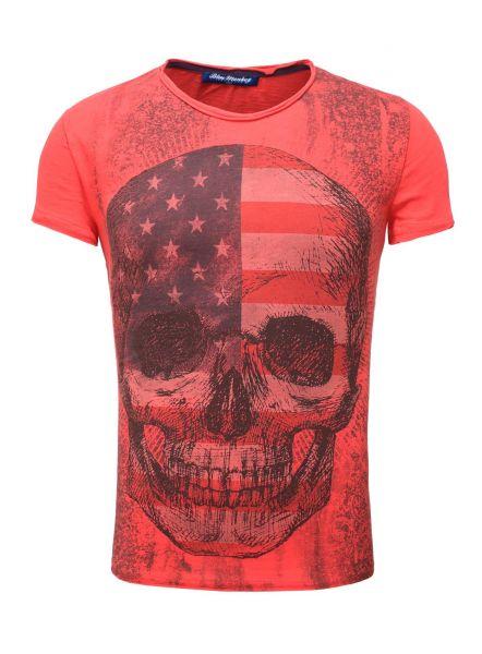 BLUE MONKEY T-Shirt mit Frontprint Skull Style 4  18-1550