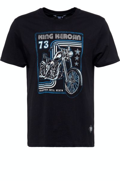 KING KEROSIN Herren T-Shirt mit Chopper Print Chopper Until Death